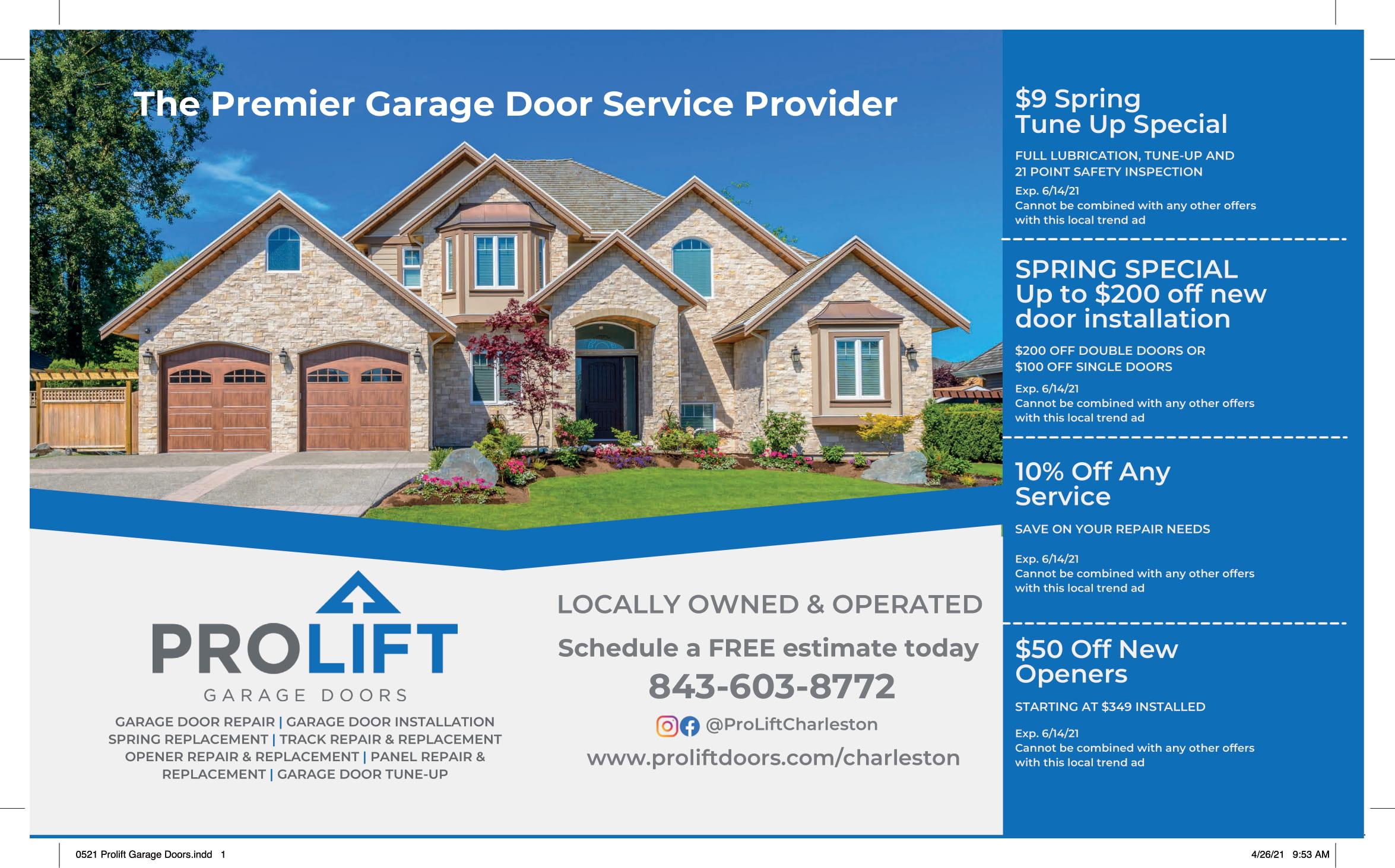 0521 Prolift Garage Doors 1