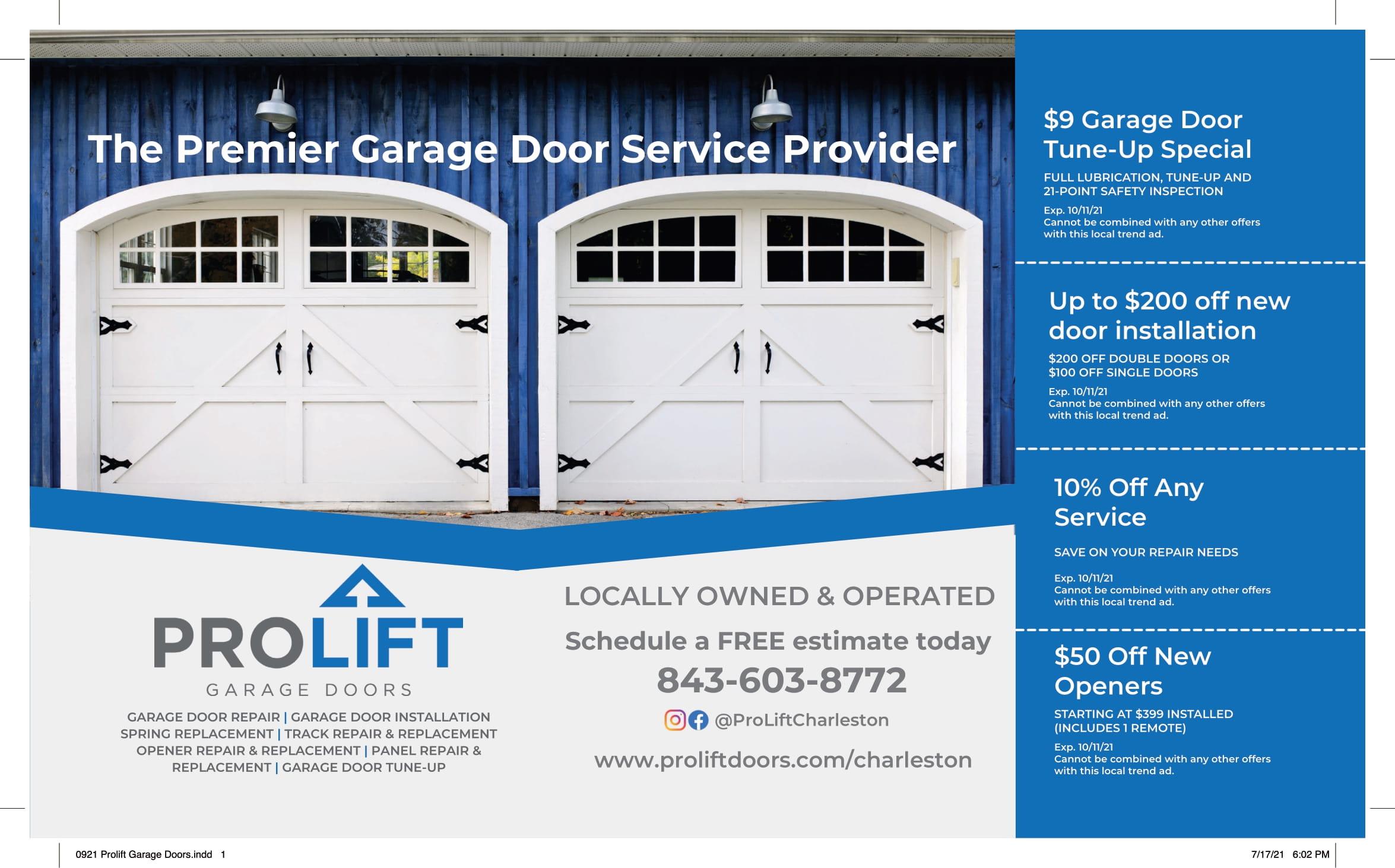 0921 Prolift Garage Doors 1