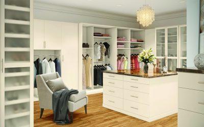 New White Large Walk-In Closet