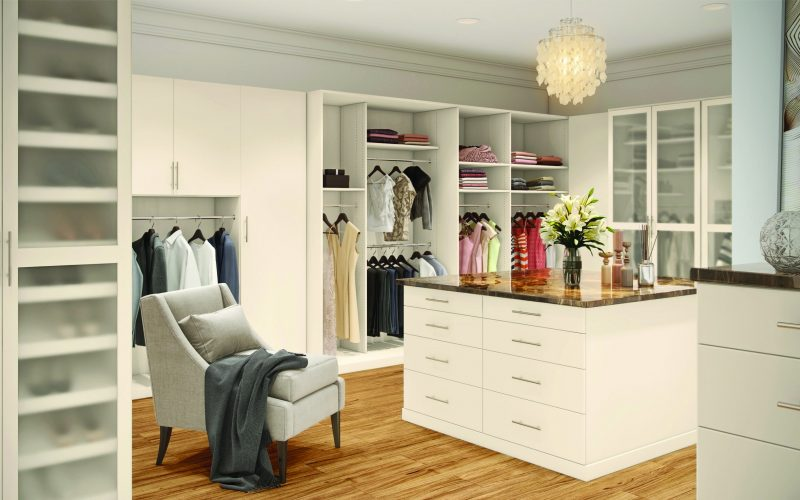 New White Large Walk-In Closet